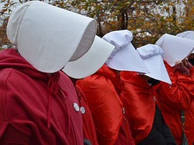 Pence Handmaids Protest (10)