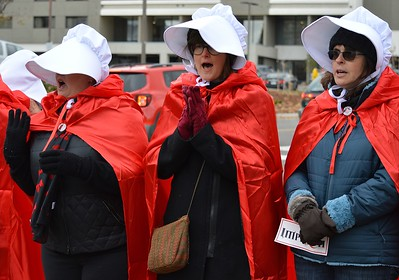 Pence Handmaids Protest (33)