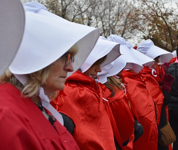 Pence Handmaids Protest (25)