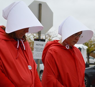 Pence Handmaids Protest (24)
