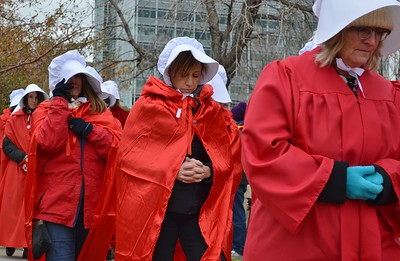 Pence Handmaids Protest (6)