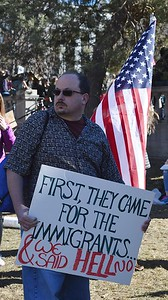 One of thousands of protesters who rallied against President Trumps ban on immigrants and refugees from Muslim countries.