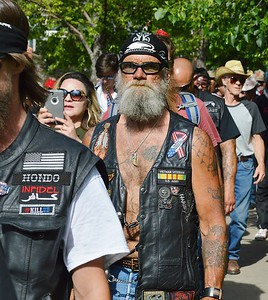 """Group of attendees leaving the """"Stop Sharia Law"""" rally In Denver."""