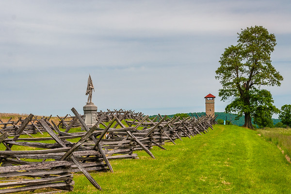 Observation Tower at end of Bloody Lane, Antietam National Battlefield, Maryland