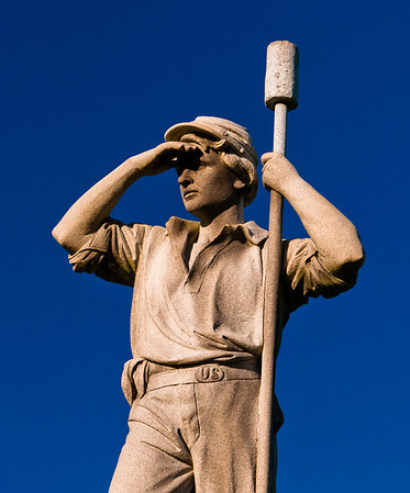 Statue of a Civil War soldier at Antietam National Battlefield, Maryland