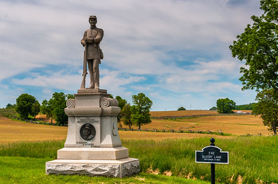 Monument along Bloody Lane at Antietam National Battlefield, Maryland.