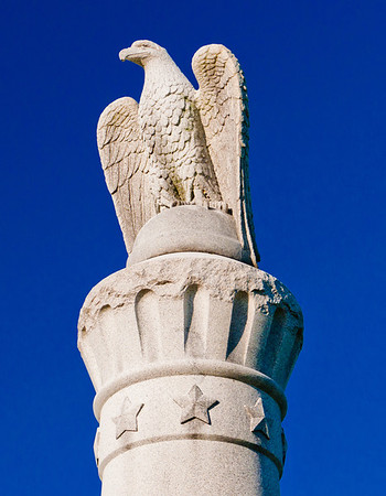 Statue of an eagle at Antietam National Battlefield, Maryland.