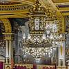 Ornate chandeliers