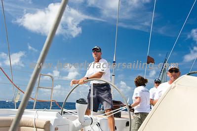 Antigua Race Week 2012 Race 1- SOJANA CREW ACTION