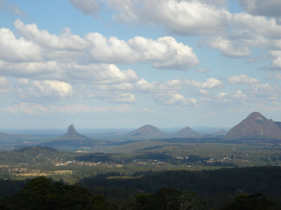 Glass House Mountains, remnants of ancient volcanoes in Queensland, Australia 2004