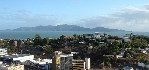 View of Townsville with Magnetic Island across the water, Queensland Australia 2004