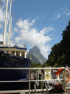 Milford Sound, New Zealand, 2005 Mitre Peak in the background.