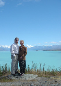 Susan & Peter at Lake Pukaki, New Zealand, Christmas 2005
