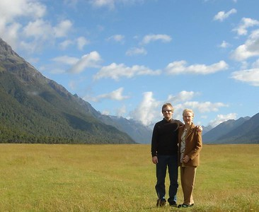 Alex & Susan on Eglinton Flats, South Island New Zealand 2005
