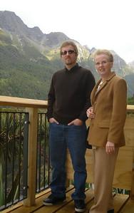 Susan & Alex at Mirror Lake, New Zealand 2005