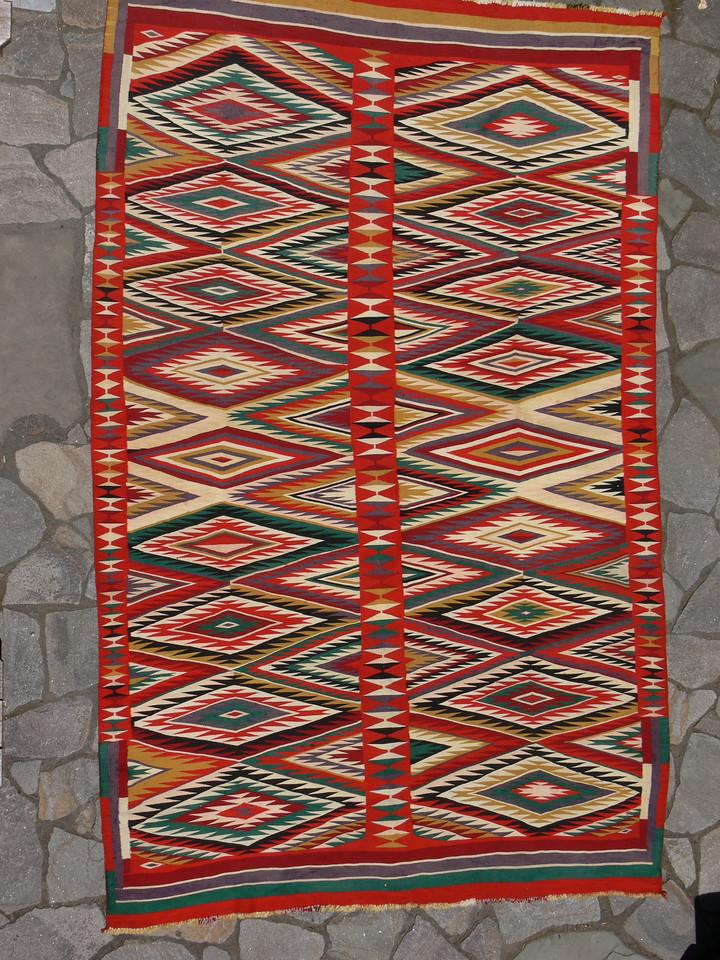 Large Germantown Navajo Weaving, Circa 1890s
