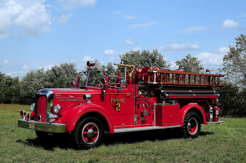 Engine 2 1954 Mack LS 750/ 400 served the Laurel Fire Dist of Irondequoit, NY now owned by a Private Collector