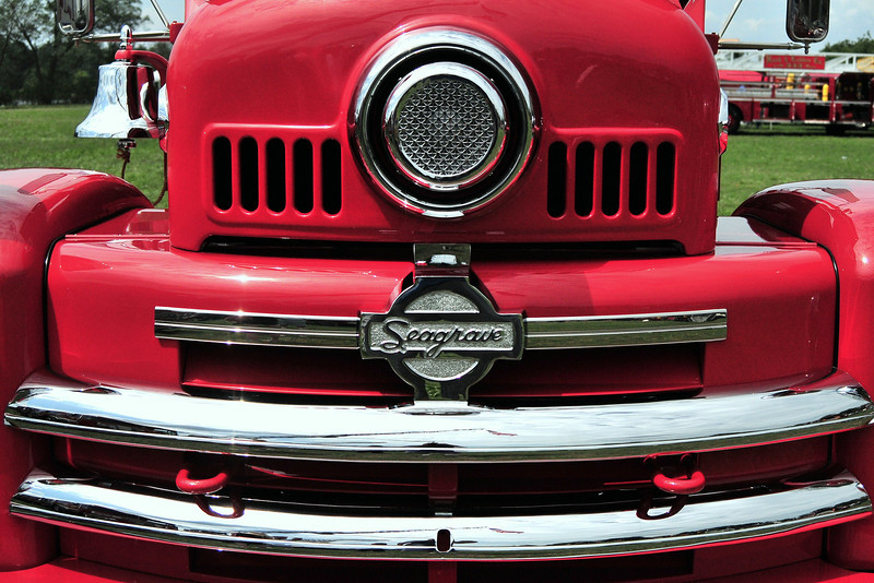 Front  grill  of  1951 Seagrave