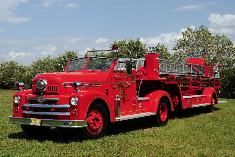 Masonville Fire Co of Mt Laurel ,NJ 1951 Seagrave 75 Ft Tiller Ex-Mt Holly ,NJ