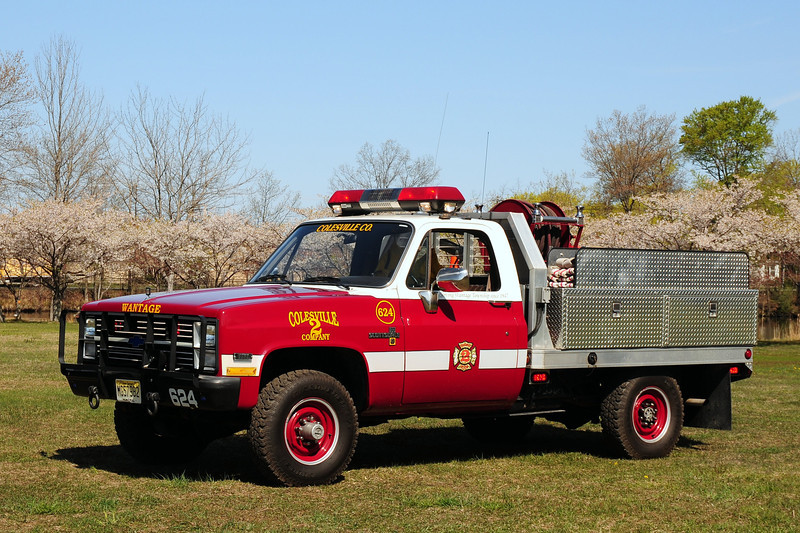 Colesville  Fire  Co  Wantage, NJ   Brush  624  1985  Chevrolet  Ex- US  Army  m-1008  200/ 200/ 10  Foam