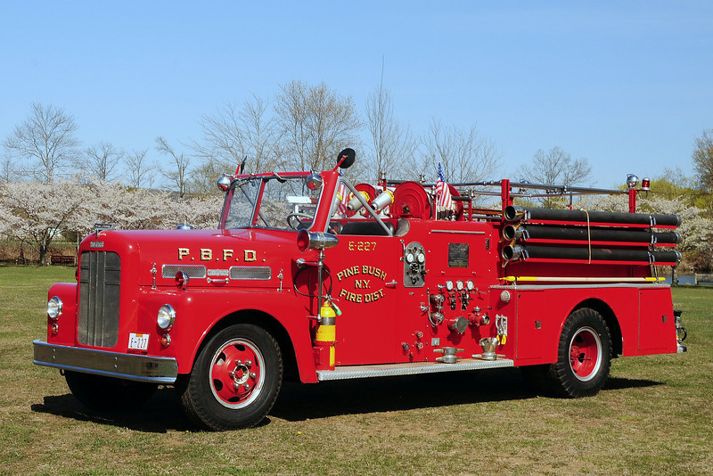 Pine Bush  Fire  Dept     Engine  227   1956  Ward La France  750/ 500
