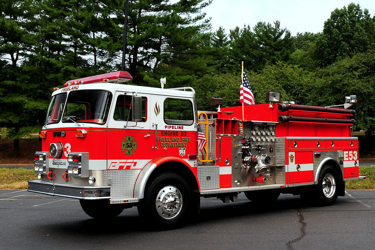 FREELAND, PA ENGINE 53  1974 SEAGRAVE/FWD 1000/ 750 REFURBED BY INTERSTATE MACK. NOW PRIVATELY OWNED BY JARED NOLT