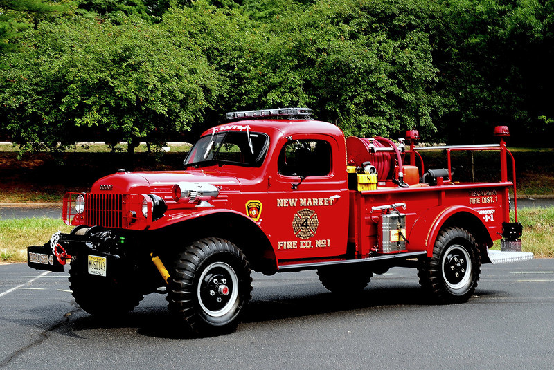 NEW MARKET FIRE CO. PISCATAWAY, NJ  1964 DODGE POWER WAGON 250/ 250
