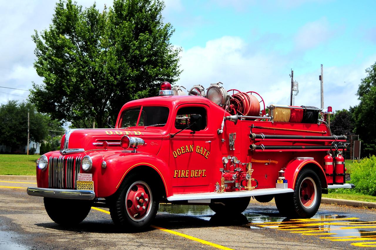 Ocean Gate Fire Dept  1947  Ford- TASC