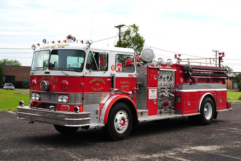 Manchester  Fire Dept  , Manchester, MD,  Engine  42 1968 Hahn 750/ 500  HC224756906