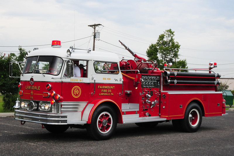 Fairmount Fire Co, Lansdale, PA 1964 Mack C95 1000/ 500   C95F1298
