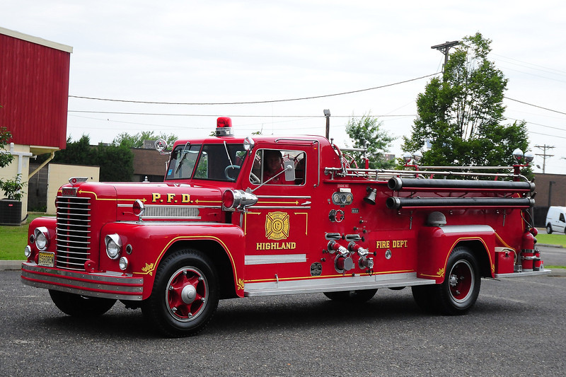 Highland Fire  Dept,  Pennsauken,  NJ  1956 Oren 750/ 500  #1575M4031