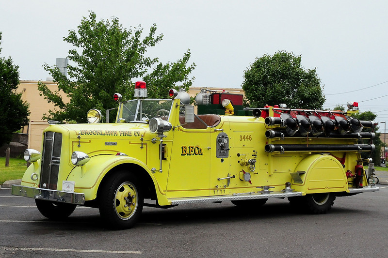 Brooklawn Fire Co , Brooklawn, NJ 1949 Ward LaFrance 500/ 500  Model 47T  #492395