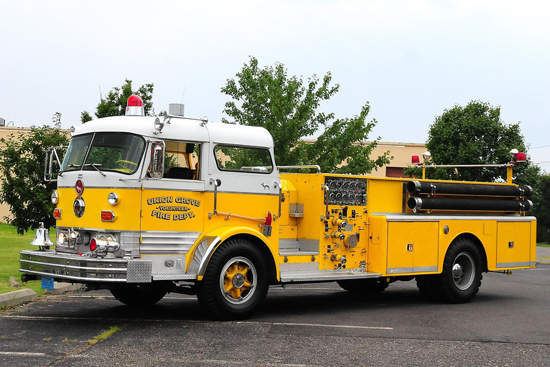 Union Grove  Vol  Fire Dept , Union Grove Alabama 1965 Mack C125   1250gpm  C125FD-1056