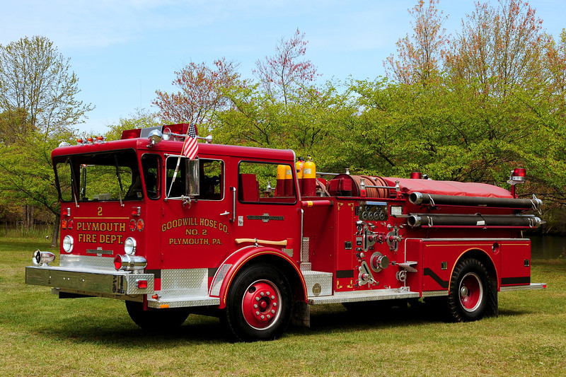 Goodwill  Hose  Co #2   of Plymouth , Pa   1968 American La France  Pioneer 1000 /500