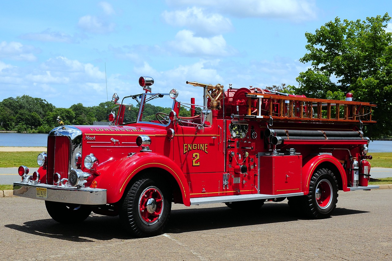 Engine 2 1954 Mack LS 750/ 400 served the Laurel Fire Dist of Irondequoit, NY now owned by a Private Collector  This is  THE  LAST  L  Model  Mack  MADE !!!