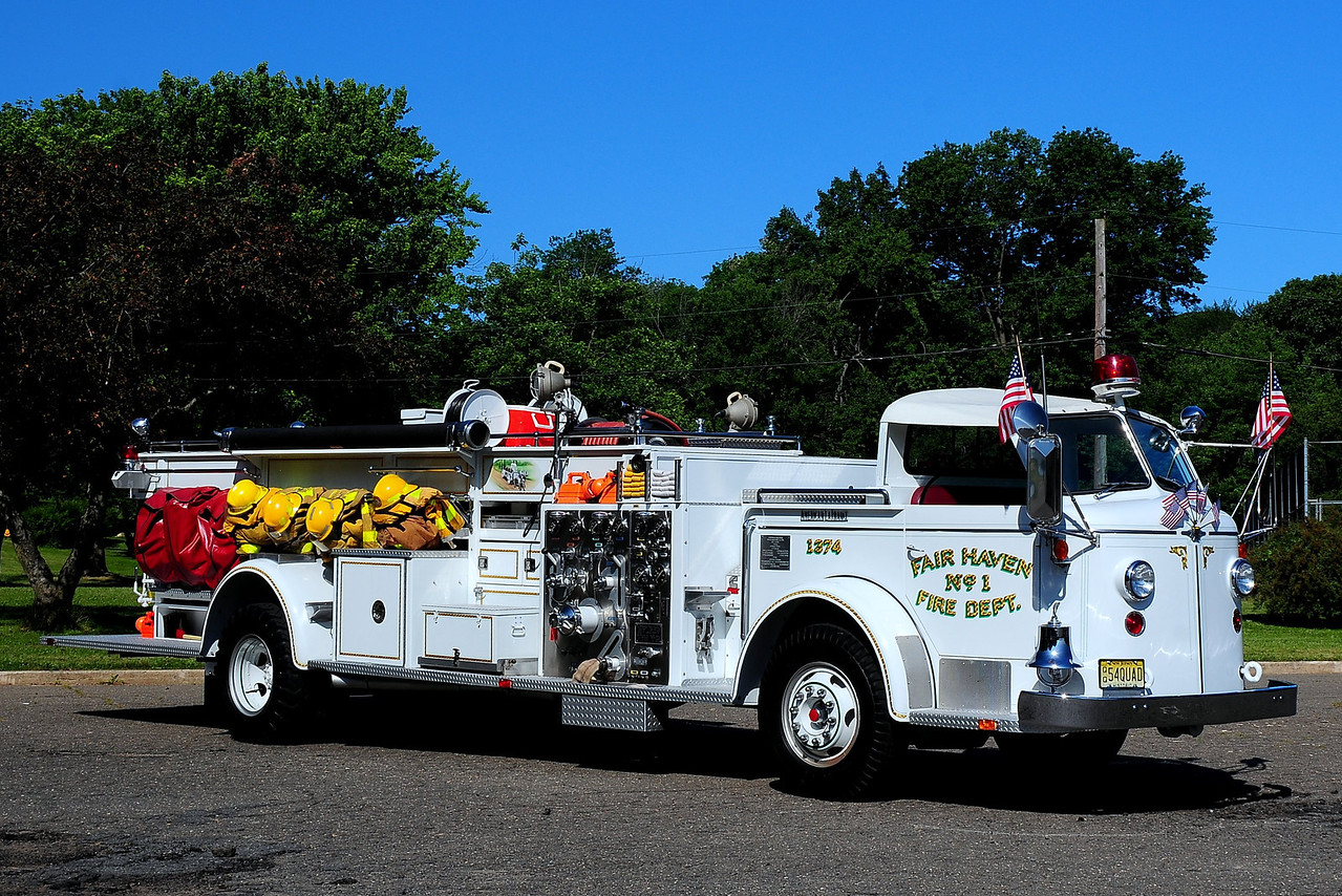 Fair Haven Fire Co   Fair Haven,  Nj  Engine  1374  1954  American La France  750/ 250