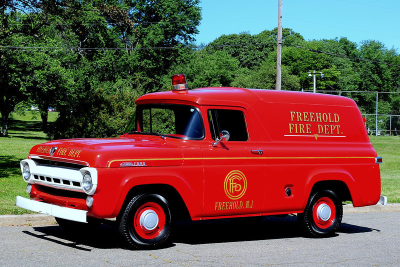 Freehold  Fire  Dept   1956  Ford  F-100  Panel  Truck