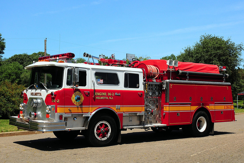 Helmetta  Fire  Dept   Engine  36-2    1980  Mack CF  1000/ 600   Ex- West Long Branch, NJ  referb in 1990 by   JC Moore 2002  Lee's