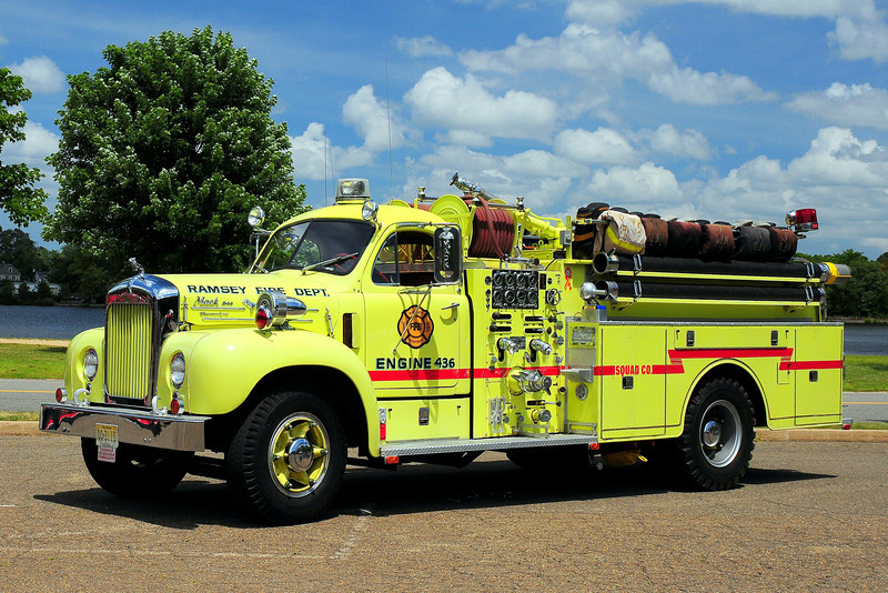 Ramsey  Fire Dept   1958  Mack  1000/ 500