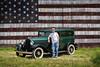 Jeff Hyatt and his 1932 restored Plymouth