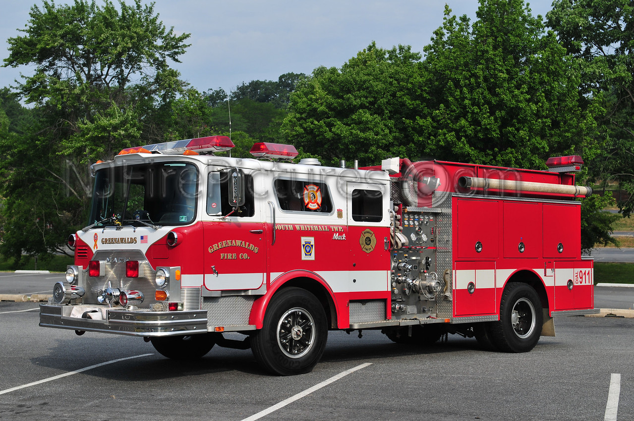 SOUTH WHITEHALL TWP (GREENAWALDS) 1979 MACK CF/94 MICRO 1000 GPM (EX FDNY ENGINE 252) OWNED BY MARC HIGGINS ARNOLD, MD.