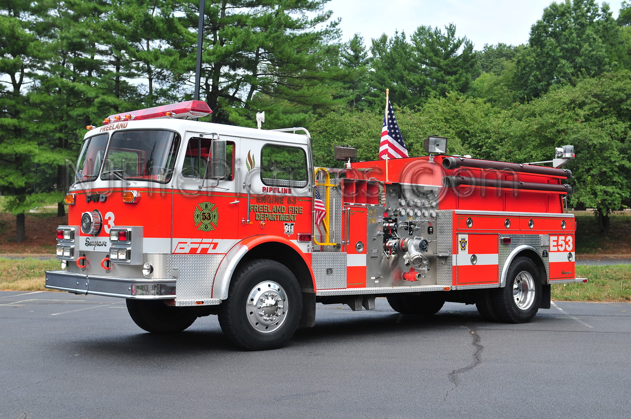 FREELAND, PA ENGINE 53 - 1974 SEAGRAVE/FWD 1000/750 REFURBED BY INTERSTATE MACK. NOW PRIVATELY OWNED BY JARED NOLT