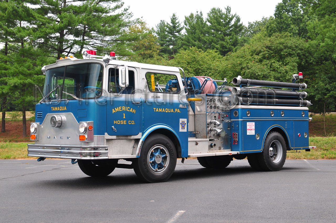 TAMAQUA, PA - 1971 MACK CF 600 1000/1000 NOW MAINTAINED BY THE SCHUYLKILL HISTORICAL FIRE APPARATUS SOCIETY