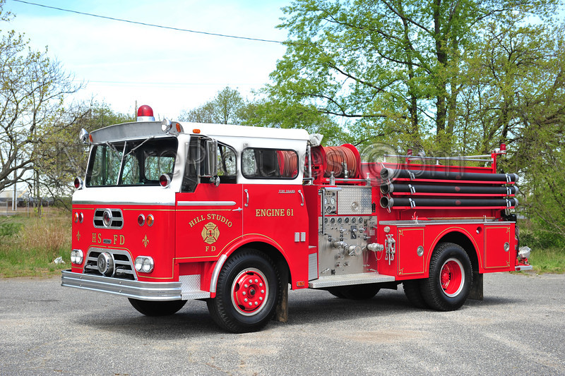 THROOP, NY 1961 WARD LAFRANCE FIRE BRAND 750/780 PRIVATELY OWNED BY JOHN BURZICHELLI AND USED FOR HIS COMPANY HILL STUDIO