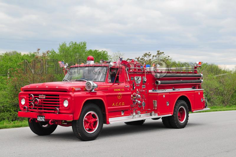 ARLINGTON COUNTY, VA ENGINE 2 - 1967 FORD F750/OREN 750/500