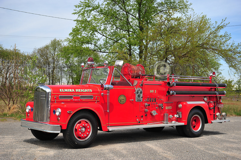 ELMIRA HEIGHTS, NY 1957 WARD LAFRANCE MODEL 185-T 750/500 PRIVATELY OWNED BY JOHN BURZICHELLI