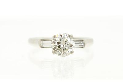 Platinum and Transitional Diamond Engagement Ring
