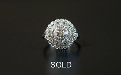 Hand-made Platinum Ballerina Ring