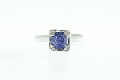 Saphire and Platinum Ring