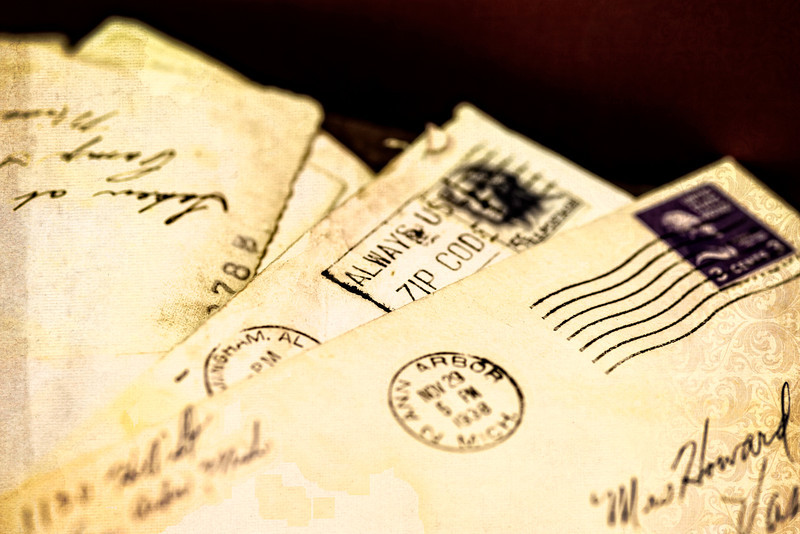 letters from the past, old correspondence, long forgotten